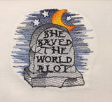 Saved the World machine embroidery design 4x4