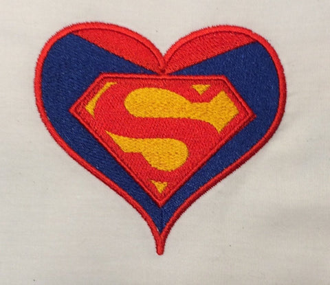 Awesome Guy Hero heart machine embroidery design 4x4 and 2.5x2.5