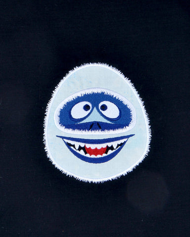 The Abominable Snowman applique 5x7 machine embroidery design