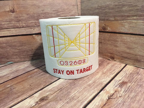 Stay on Target Star Wars toilet paper 4x4 machine embroidery design