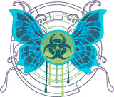 Toxic Butterfly full fill machine embroidery design 4x4