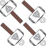 Thor hammer dangle 4ITH 4x4 machine embroidery design
