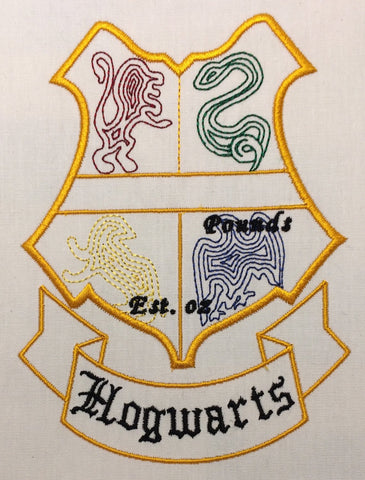 Hogwarts Birth Stat Template machine embroidery design 5x7
