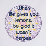 When life gives you lemons sampler 5x7 machine embroidery design