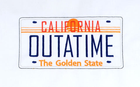 Time Rewind OUTATIME 5x7 machine embroidery design