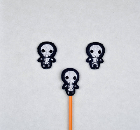 Cute Skeleton topper 3 ITH machine embroidery design 4x4