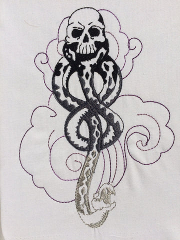 Dark Mark 5x7 machine embroidery design