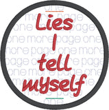 One more page lies I tell myself bookmark Planner band ITH machine embroidery design 4x4