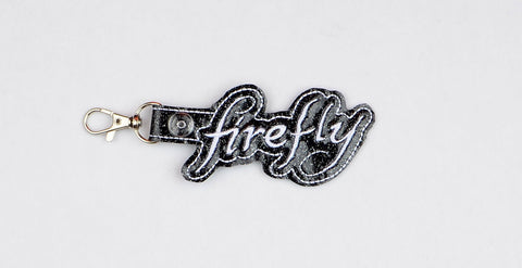 Firefly snap tab key fob ITH 4x4 machine embroidery design