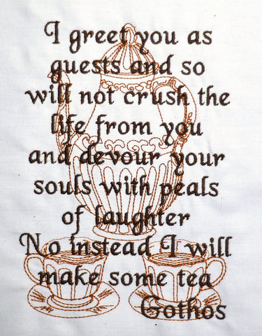 Gothos quote 5x7 machine embroidery design
