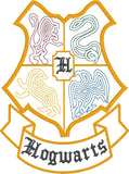 Hogwarts Crest minimalist machine embroidery design 5x7
