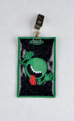 Hitchhiker's Guide to the Galaxy ID Badge holder ITH  machine embroidery design  4x4