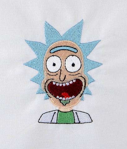 Rick of Rick and Morty 4x4 machine embroidery design