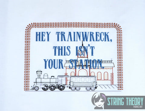Hey Trainwreck, this isn't your station faux Sampler 6x10 machine embroidery design