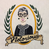 Notorious RBG Machine Embroidery Design 4x4