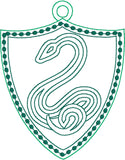 Spell Academy Serpent Coat of Arms ornament ITH machine embroidery design 4x4