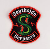 Riverdale Southside Serpents patch ITH 4x4 machine embroidery design