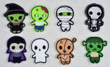 Cutie Monster Feltie set - 8 designs, 4 ITH machine embroidery design 4x4
