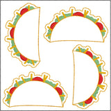 Taco Feltie 4ITH machine embroidery design 4x4