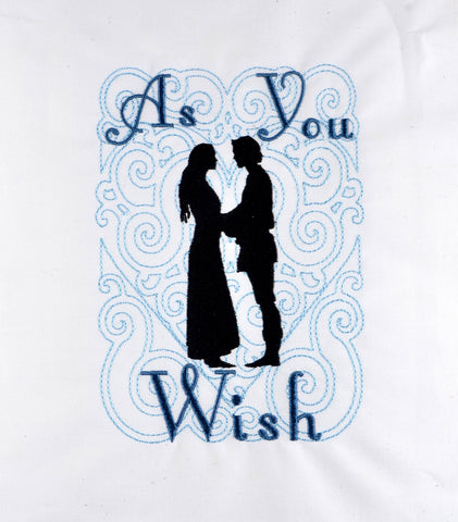 Royal Fiance As You Wish machine embroidery design 5x7