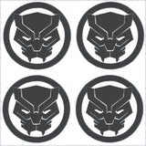 Black Panther round logo feltie 4ITH 4x4 machine embroidery design