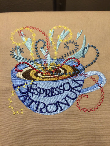 Espresso Patronum Machine Embroidery Design 4x4
