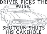 Paranormal Driver picks the music machine embroidery design 5x7