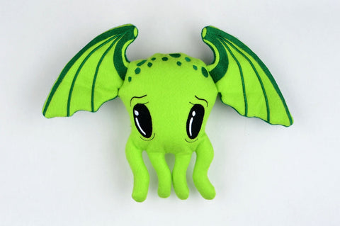 Cutie Cthulhu stuffie / stuffy ONE SIZE 5x7 ITH machine embroidery design