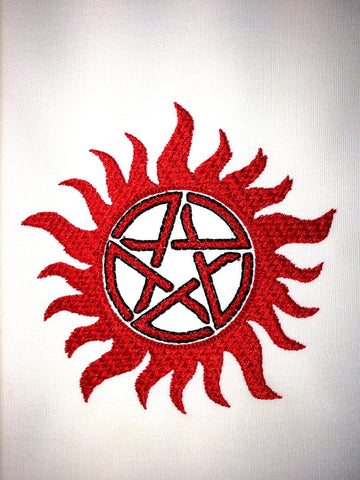 Anti-demon Sigil Machine Embroidery Design 4x4