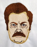 Surly Mustache Man 4x4 machine embroidery design