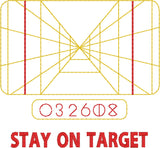 Star Battles Stay on Target 4x4 machine embroidery design