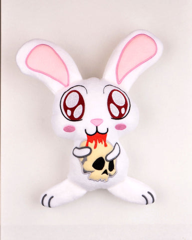 Killer Bunny stuffie ITH 5x7 machine embroidery design ONLY 1 SIZE