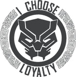 Panther I choose loyalty 5x7 machine embroidery design