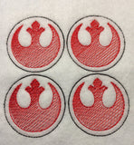Rebel Alliance ITH feltie 4 to the hoop machine embroidery design 4x4