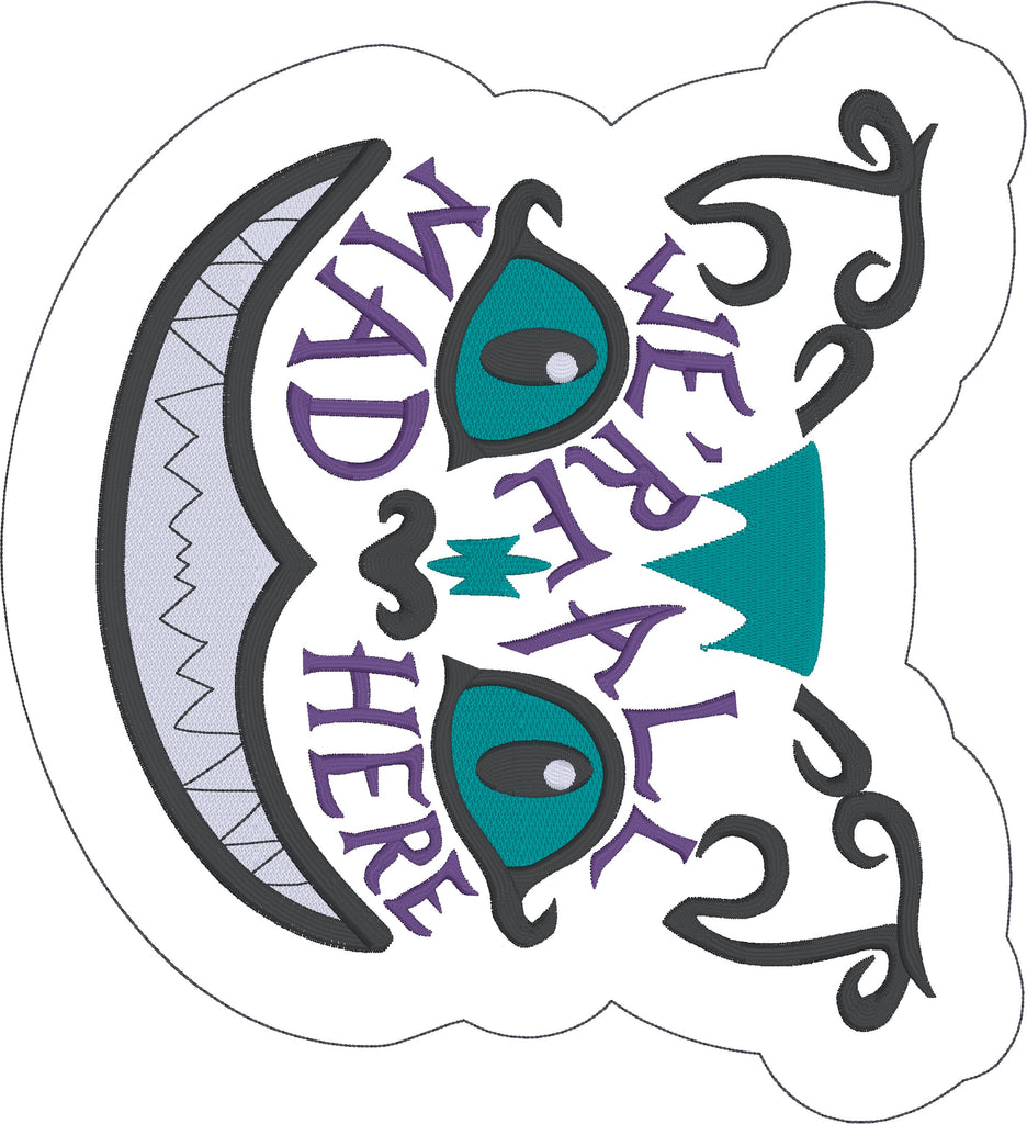 Cheshire Cat We Re All Mad Here Stuffie Stuffy Ith 5x7 Machine Embroidery Design
