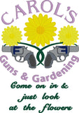 Carol's Guns & Gardening Machine Embroidery Design 5x7