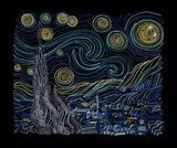 Starry Night 7x12 machine embroidery design