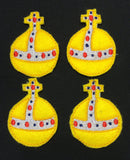 Hand Grenade ITH feltie 4 to the hoop machine embroidery design 4x4