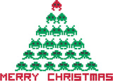 Christmas Invasion 5x7 Machine Embroidery design