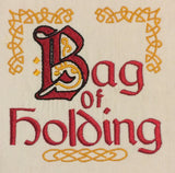 Bag of Holding machine embroidery design 5x7