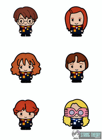 Spell Academy Chibi SET 1  5x7 SET - SIX designs machine embroidery design