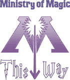 Ministry of Magic this way 5x7 machine embroidery design
