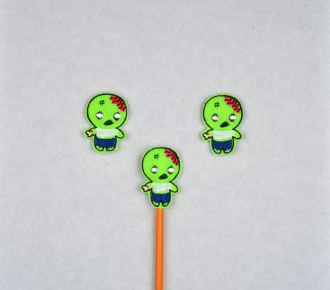 Cute Zombie topper 3 ITH machine embroidery design 4x4