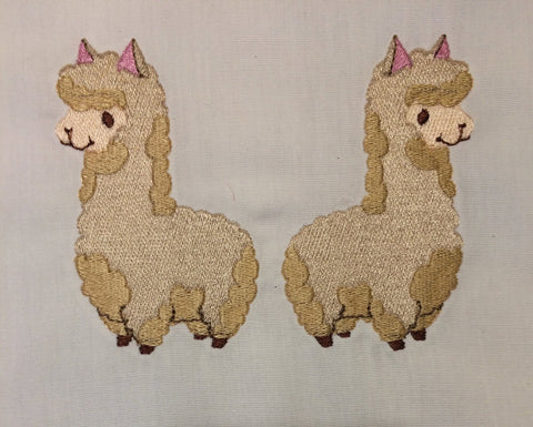 Pack-a Alpaca machine embroidery design 5x7