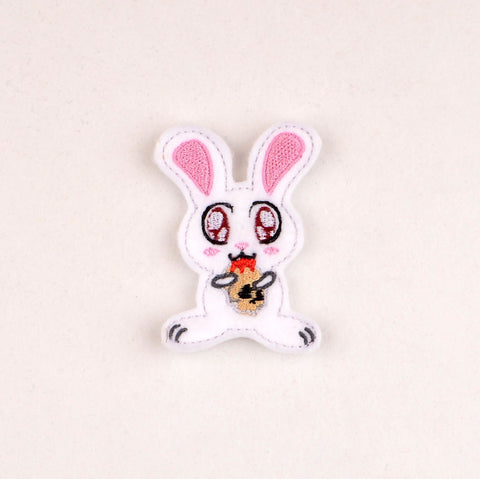 Killer Bunny oversized feltie 2ITH 4x4 machine embroidery design