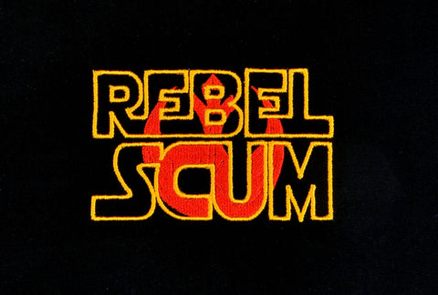 Rebel Scum machine embroidery design 4x4
