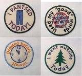 Adult Merit Badge Patch Appliqué PACK ITH TWELVE Designs 4x4 machine embroidery designs