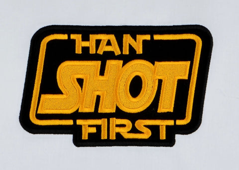 Han shot first patch / applique 5x7 vertical machine embrodiery design