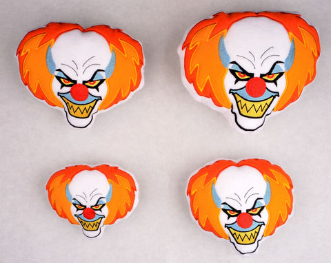 Pennywise the Clown stuffie FOUR SIZES ITH machine embroidery design