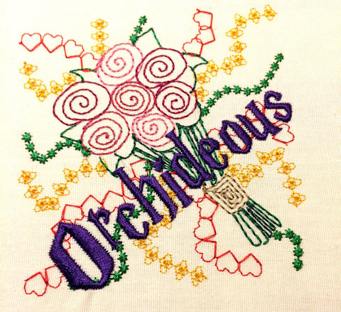 Flower spell machine embroidery design 4x4